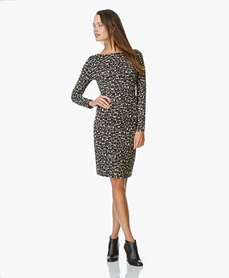 no man's land Print Dress - Black