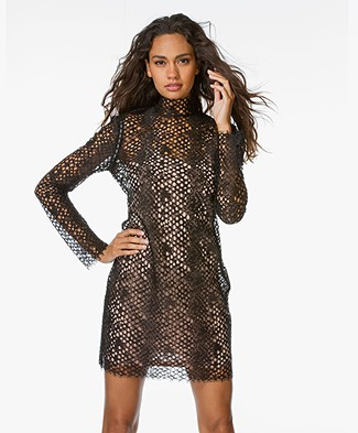 Alexander Wang Lace Mini Dress - Black