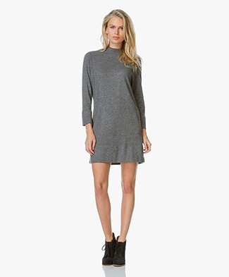 Repeat Knitted Dress with Cashmere - Medium Grey