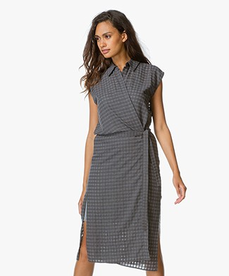 T by Alexander Wang Wrap Tie Jurk - Heather Grey