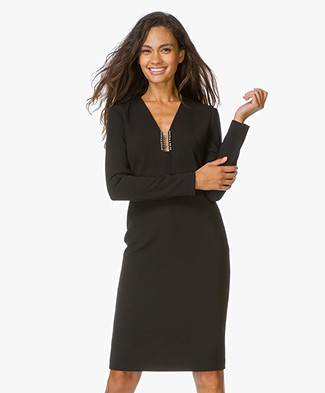 Alexander Wang Long Sleeve Dress with Piercing Detail - Black