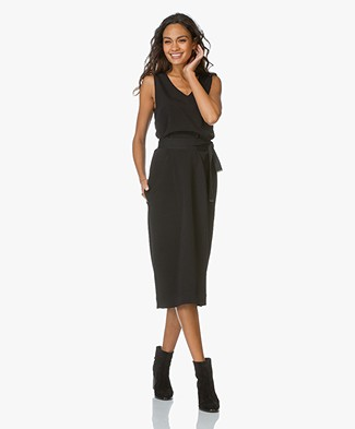 Joseph Maggie V-neck Dress - Black