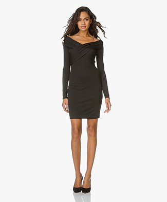 T by Alexander Wang Off-shoulder Dress - Black