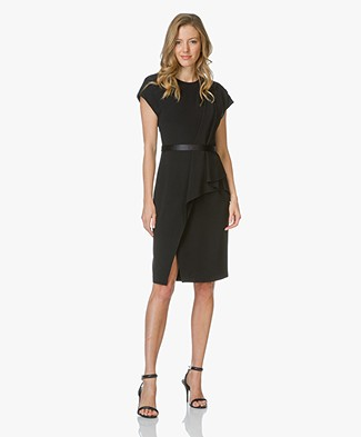 Alexander Wang Belted Draped Pencil Dress