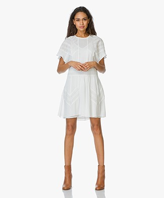 IRO Dress Vilda with Lace - Off-white