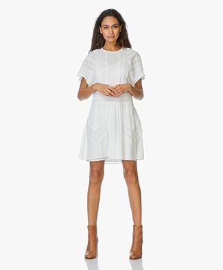 Witte basic jurk