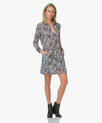 Zadig et Voltaire Floral Print Dress  Rubis - Black/Multicolored