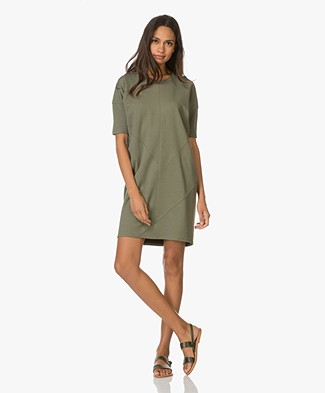 Denham Unite Jersey Dress - Rifle Green