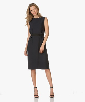 Joseph Easton Wrap Dress - Dark Blue