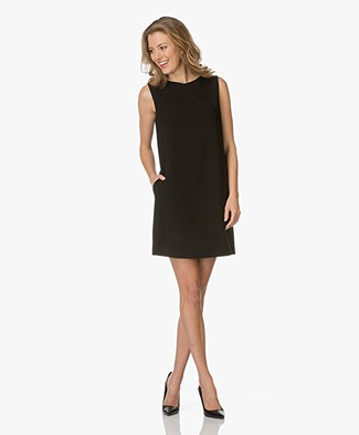 Theory Shirft Dress Narlica in Crepe - Black