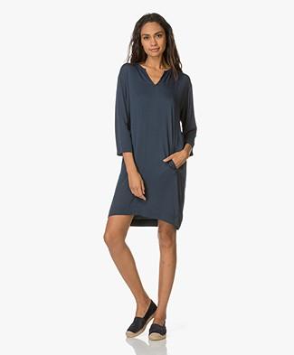 Project AJ117 Tunic Dress Billie in Viscose - Midnight