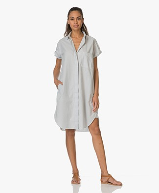 Closed Shirt Dress Paige with Fine Stripe