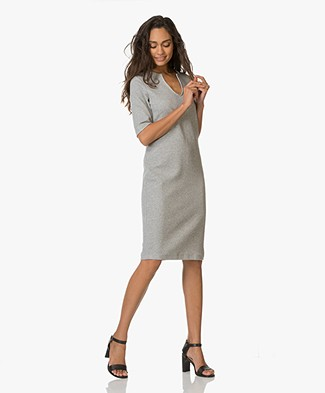 Josephine & Co Elinor Jersey Dress - Lichtgrijs