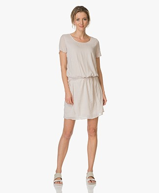 BRAEZ Voile Drawstring Dress - Chalk