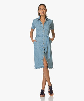 Current/Elliott The Jackie Dress in Denim - Joni