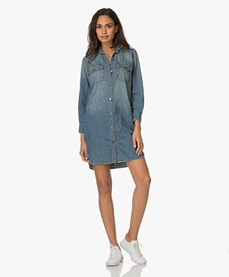 Current/Elliott The Perfect Denim Shirt Dress - Miner