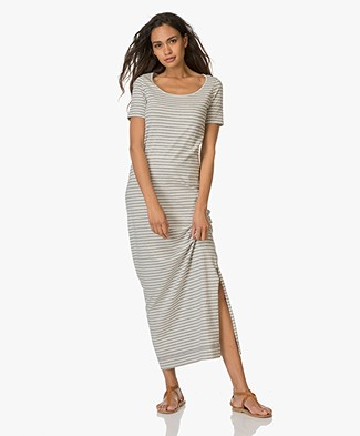 Josephine & Co Emma Striped Maxi Dress - Stripe Grey