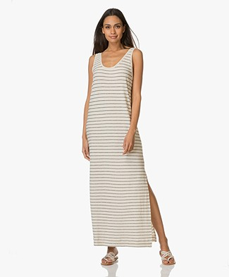 By Malene Birger Striped Maxi-Dress Poulas - Cream/Black