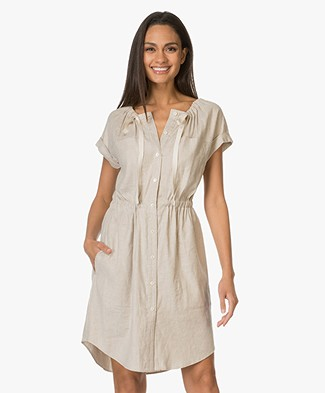 Theory Laela Linen Dress - Sierra Beige