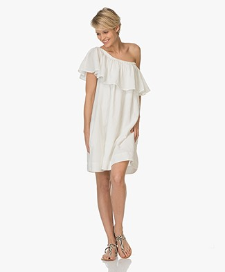 Anine Bing Off-Shoulder Dress - Sand