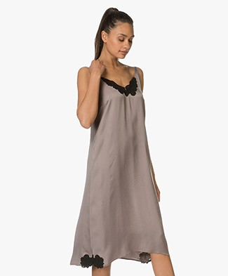 Drykorn Sessy Cupro Midi Dress - Taupe