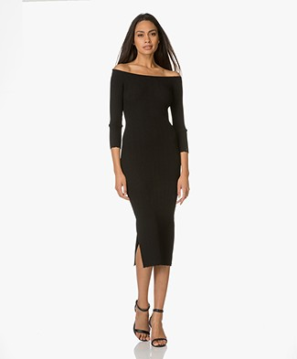 Rag & Bone Kari Knitted Dress - Black