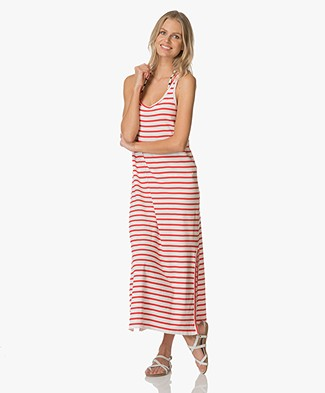 Petit Bateau Striped Maxi Dress - Lait/Peps