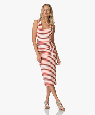 Baukjen Hanna Striped Tank Dress - Red & White Stripe