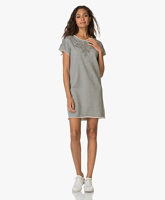 Rag & Bone / Jean Eyelet T-shirt Jurk - Heather Grey