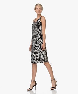 JapanTKY Taya Sleeveless Dress - Black/Sand