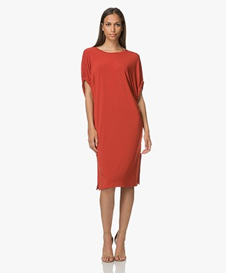 By Malene Birger Femillo Jurk - Autumn Red