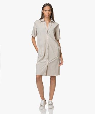 JapanTKY Ryni Easy-Care Shirt Dress - Sabbia