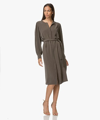 Joseph Nola Silk Dress - Taupe