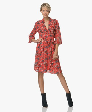 Ba&sh Eden Viscose Jurk - Rouge