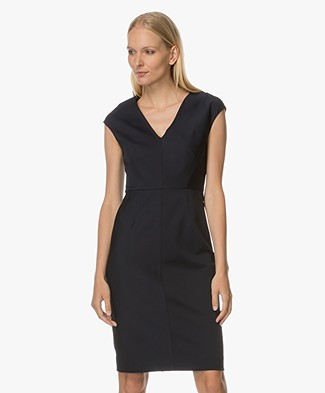 Diane von Furstenberg Cap Sleeve Dress - Dark Blue