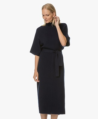 Joseph Jill Knitted Cashmere Dress - Navy