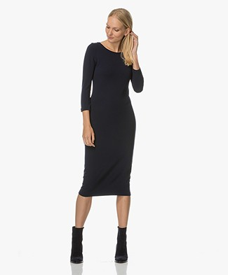 Majestic Jersey Midi-dress - Dark Blue