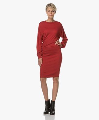 Theory Giltella Knit Dress - Crimson Red