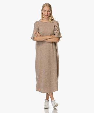 extreme cashmere Teelong Dress - Sand
