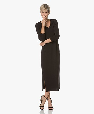BRAEZUltra-zachte Jersey Sweaterjurk - Zwart