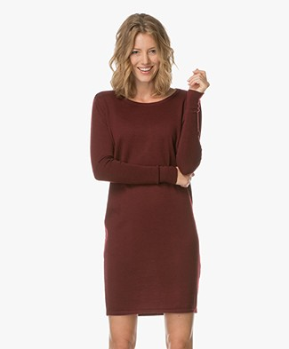 Sibin/Linnebjerg Ella Merino Sweater Dress - Burgundy