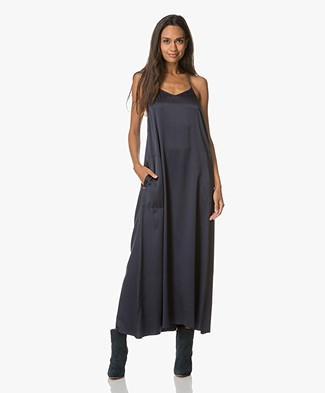 extreme cashmere Pina Maxi Dress - Navy