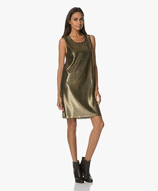 Drykorn Soraya Lurex Sleeveless Dress - Gold