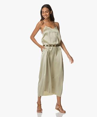 extreme cashmere N°50 Pina Zijden Maxi-jurk - Pina