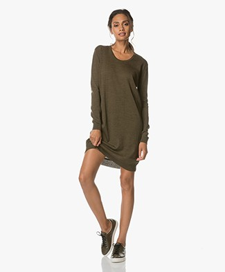 Sibin/Linnebjerg Alba Knitted Sweater Dress - Melange Green