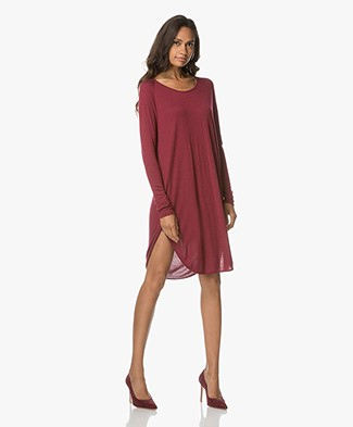 Sibin/Linnebjerg Grape Sweaterjurk - Bordeaux