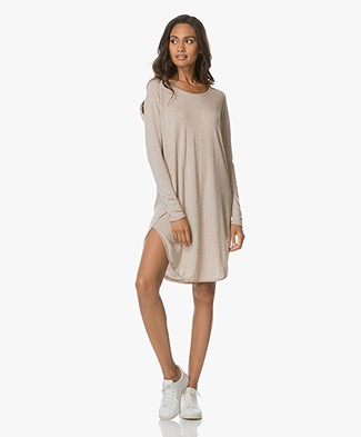 Sibin/Linnebjerg Grape Sweaterjurk - Sand