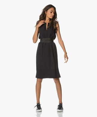 Theory Caitriona Sleeveless Dress - Deep Navy