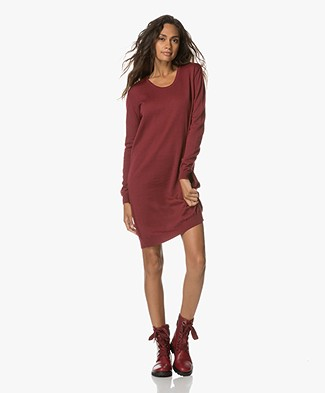 Sibin/Linnebjerg Alba Knitted Sweater Dress - Burgundy