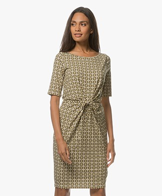 Kyra & Ko Dima Printed Jersey Dress - Gold